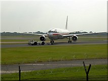 SJ8184 : Boeing 767 at Manchester Airport by David Dixon