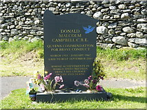 SD3097 : Donald Campbell's grave, Coniston by pam fray