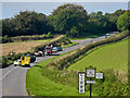 SS5943 : Emergency services attend a road traffic accident on the A3123 near Coil Cross by Roger A Smith
