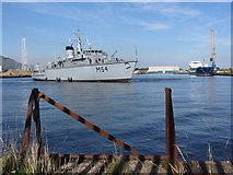 ST1974 : NATO warships in Cardiff Bay: LNS Kursis by Gareth James