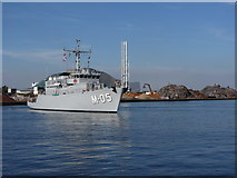 ST1974 : NATO warships in Cardiff Bay: LVNS Viesturs by Gareth James