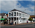 SJ8481 : Barclays Bank and flagpole, Wilmslow by Jaggery