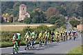 SO7740 : Tour of Britain bike race, Little Malvern by Bob Embleton