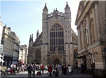 ST7564 : West frontage, Bath Abbey by Robin Sones