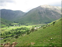 NY1807 : Patch of sunlight on Kirk Fell by Peter S