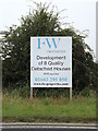 TM2899 : F W properties sign off the B1332 Norwich Road by Adrian Cable