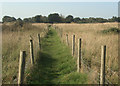 SS8179 : Public footpath from the Grove Golf Club to Moor Lane near Nottage by eswales