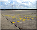 TG2623 : Fire lane on taxiway by Evelyn Simak