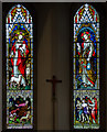 TQ8110 : Stained glass window, Christchurch Blacklands, Hastings by Julian P Guffogg