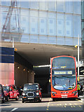 TQ3280 : Buses and taxis, London Bridge by Stephen McKay