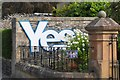 NT2540 : 'Yes' sign in Northgate, Peebles by Jim Barton