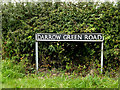 TM2789 : Darrow Green Road sign by Adrian Cable