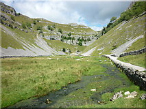 SD9163 : The springs at Gordale Scar by Carroll Pierce