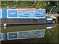 """SP8814 : Name panel of narrowboat """"Dart"""" at Bates Boatyard by David Hawgood"""