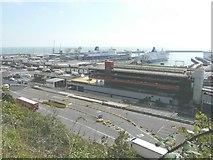 TR3341 : View of the Eastern Docks, Dover by John Baker