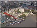 TQ3380 : London: the Tower of London from the Shard by Chris Downer