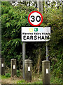 TM3288 : Earsham Village Name sign on The Street by Adrian Cable