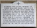 TG0336 : All Saints, Sharrington - Wall monument WWI by John Salmon