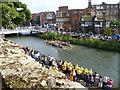TQ5946 : Dragon Boat Racing on the River Medway at Tonbridge by Marathon