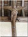 TG3225 : St Nicholas, Dilham - Roof angel by John Salmon