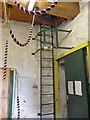 SJ9494 : Ladder in the Ringing Room by Gerald England