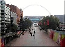 TQ1986 : Stadium Walk from Bridge Road, Wembley by Robin Sones