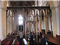 TG1323 : Cawston, St Agnes: rood screen from the chancel by Stephen Craven