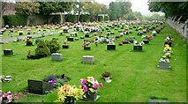 SO8171 : Colourful Stourport-on-Severn cemetery by Peter Evans