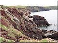 SM7809 : Red Sandstone Cliffs by Tony Atkin