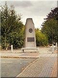 SJ7996 : Marshall Stevens Memorial, Trafford Park Village by David Dixon