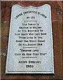 NS2776 : World War I memorial tablet by Thomas Nugent