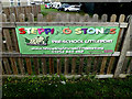 TL5687 : Stepping Stones Pre School sign by Adrian Cable