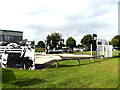 TL5687 : Basketball Courts  at Littleport Sports And Leisure Centre by Geographer