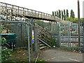 SU1685 : Footbridge, Paddington to the West railway, Stratton, Swindon (1) by Brian Robert Marshall
