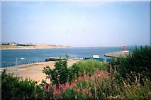 NZ3668 : Entrance to River Tyne in 1991 by Clint Mann