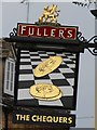 SP3127 : The Chequers sign by Oast House Archive