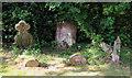 TQ5493 : St Thomas, Church Lane, Noak Hill, Havering - Gravestones by John Salmon