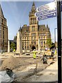 SJ8398 : Re-siting the Cenotaph Next to Manchester Town Hall by David Dixon
