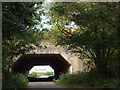 SP2585 : M6 motorway crosses the lane to Green End by Robin Stott