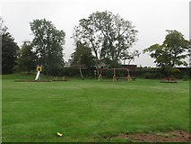 NT7853 : Swings and slides, Duns Public Park by Graham Robson