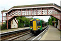 SP1658 : Train standing in Wilmcote Station, Warwickshire by Roger  Kidd