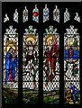 TQ5802 : Stained glass window, St Mary's church, Willingdon by Julian P Guffogg