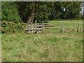 SU9746 : Stile, Loseley Park by Alan Hunt