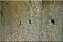 SS8178 : Former tramroad and railway bridge over Moor Lane, Nottage – detail by eswales