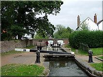 SJ9214 : Penkridge Lock, Staffordshire by Roger  Kidd