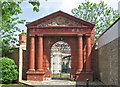 NZ5032 : Hartlepool - ornamental gate on Raby Road by Dave Bevis