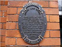 W7966 : Plaque, Cunard Line Offices by Kenneth  Allen