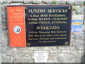 SS8086 : Noticeboard at Margam Abbey by David Hillas