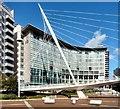SJ8398 : Lowry Hotel and Trinity Footbridge by Gerald England