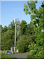 SJ9314 : Communications mast near Penkridge, Staffordshire by Roger  Kidd